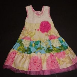 Giggle Moon floral dress GUC size 4